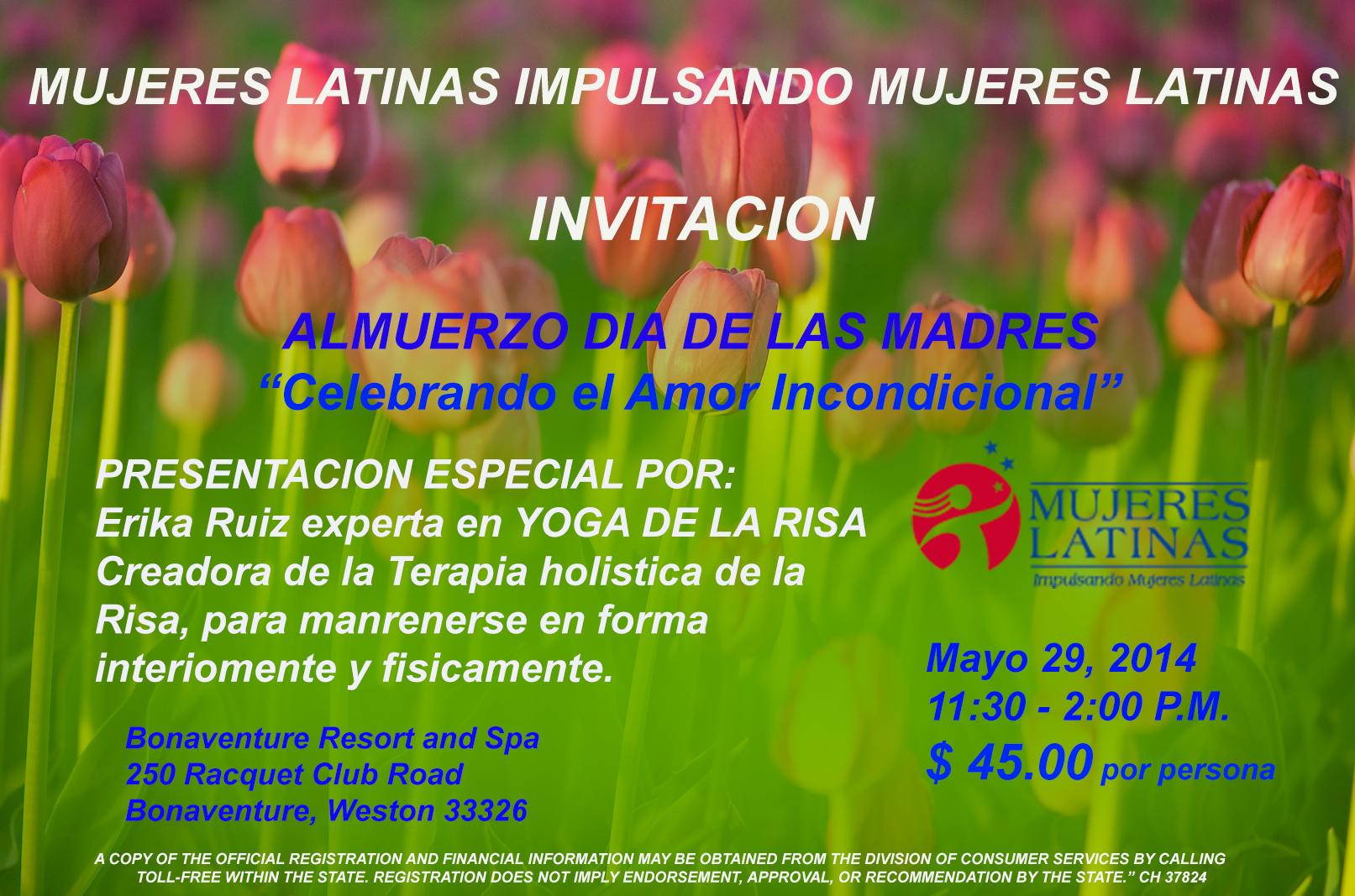 Invitacion DÍa De Las Madres RegiÓn: ALMUERZO DIA DE LA MADRE