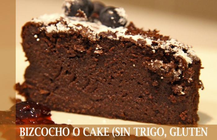 BIZCOCHO O CAKE (SIN TRIGO, GLUTEN FREE)