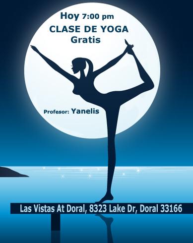 clase de yoga en Doral